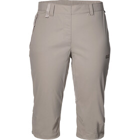 Jack Wolfskin Activate Light Pantalon 3/4 Femme, moon rock